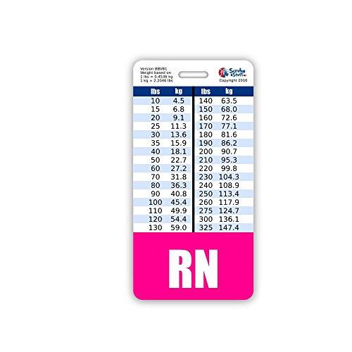 RN Nurse Badge Buddy w/Pink Border Vertical