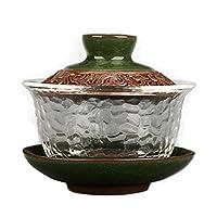 新しいデザインセラミックGAI WANティーセット、中国ティーセットデフア山茶陶土ポットセット旅行のためのセット美しいと簡単なやかん (Kleur : 04)