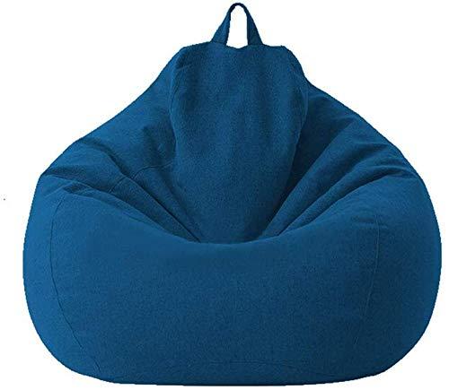 MeButy Cojín de suelo para sofá, sin relleno, con respaldo alto, para adultos y niños, talla S azul