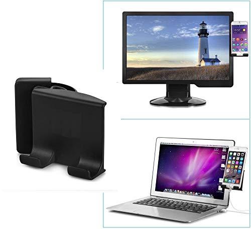 soontec universelle Handy-Halterung für Monitor, Clip auf Laptop oder Desktop, Handyhalter, Handy-Ständer, Smartphone-Dock