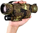 BOBLOV 16GB Night Vision Monocular, Digital Nigh Vision Monocular, 5x8 Digital Night Vision HD Scopes with Rechargeable/Take Photo/Video Recording/Playback Function for Outdoor/Hunting/Observing