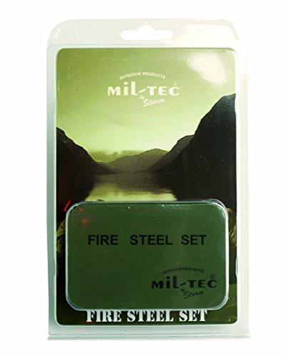 Pietra focaia di sopravvivenza per camping Kit in acciaio per l'accensione del fuoco per Campeggio Trekking Kit di accensione del fuoco più leggero Grande con Scatola