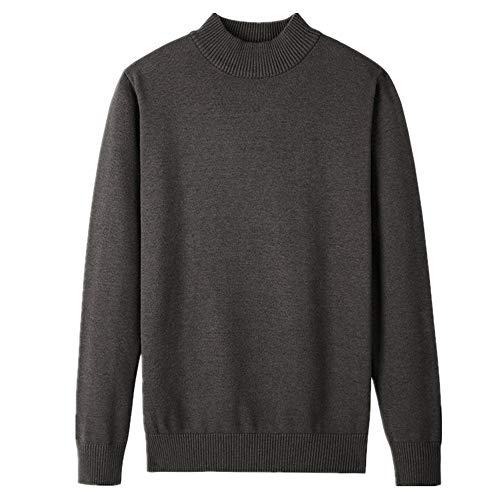 Suéter de invierno de cuello alto slim fit suéter juvenil casual suéter de manga larga núcleo hilado hilado de hilo