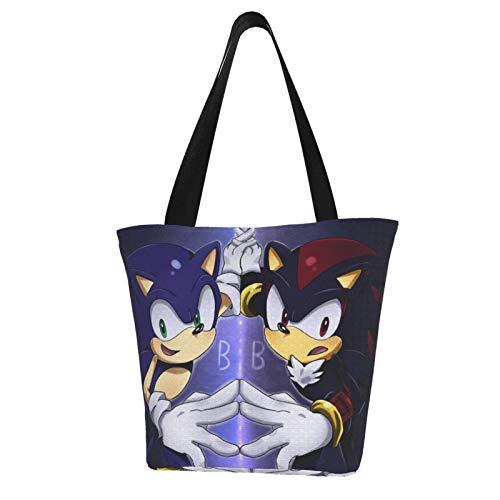 Sonic Mega Man Super Smash Bros Mario Women Totes Carry Bags Big Capacity Shoulder Handbags Messenger Backpacks Portable Webbing is Strong and Durable