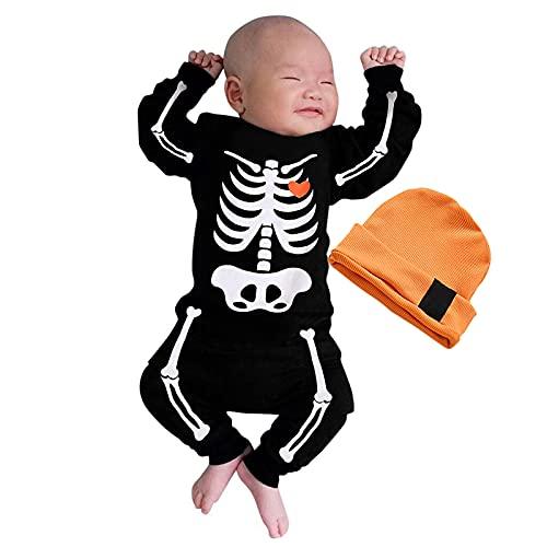 BIBOKAOKE Costume de cosplay Halloween pour bébé garçon et fille - Une pièce avec tête de mort...