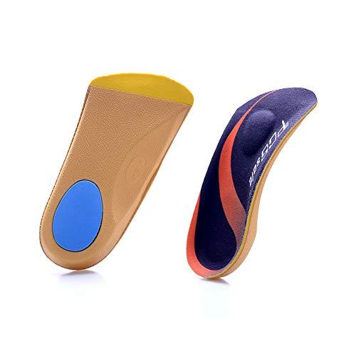 PCSsole 3/4 Orthopädische Comfort Weich Einlegesohle Dämpfung Schuheinlagen für Plattfüße, Plantar Fasciitis, Fußschmerz Arbeitsschuhe Einlagen L(43-46)