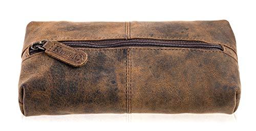KomalC Leather Zip-Lock Cosmetic Makeup Pouch Bag Pen Pencil caseSALE