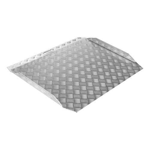 SecuCare - Rampa Para Silla De Ruedas. 78x61x7-15 CM. AntiDeslizante. Para Interior Y Exterior. Aluminio Reforzado