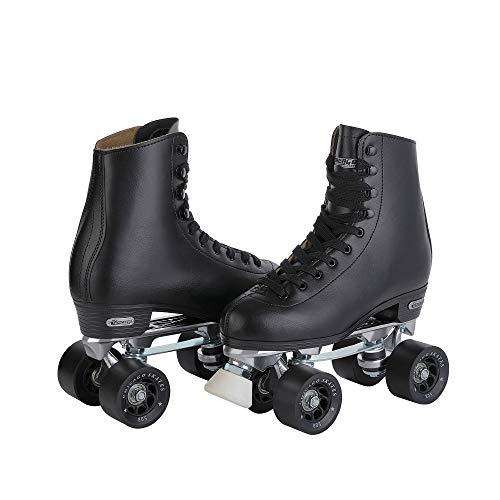 Chicago Men's Premium Leather Lined Rink Roller Skate - Classic Black Quad Skates - Size 9