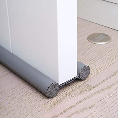 Lzansuii Door Draft Excluder (2 Pack), Upgraded Durable Leather Double Sided Door Foam Draft Excluder Tape SoundProof Sweep Stopper Weatherstrip, for Carpet Window Door Gap Seal