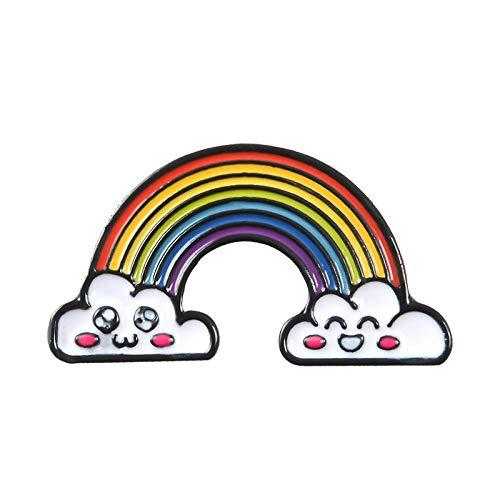 PYBH Broche del Arco Iris Señora Esmalte Pernos Nube Insignia de la Historieta de Dril de algodón Chaquetas de Solapa sueño joyería Regalo for niños (Talla : Style 6)