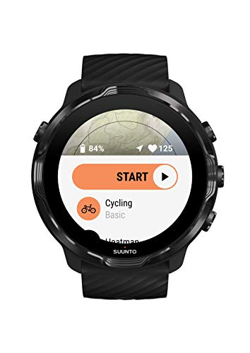 Suunto 7 GPS Sport Smartwatch with Wear OS by Google - Black/Lime