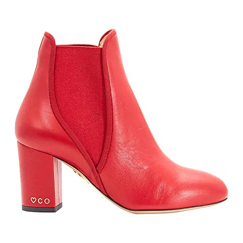 charlotte olympia Ladies Red XX Solid Calf Boots, Brand Size 37 (US Size 7)