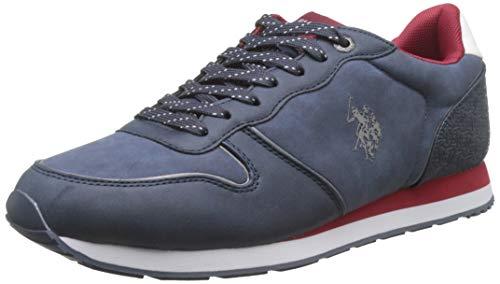 U.S. POLO ASSN. SOREN1 Club, Sneaker Uomo, (Blu/BOR 030), 43 EU