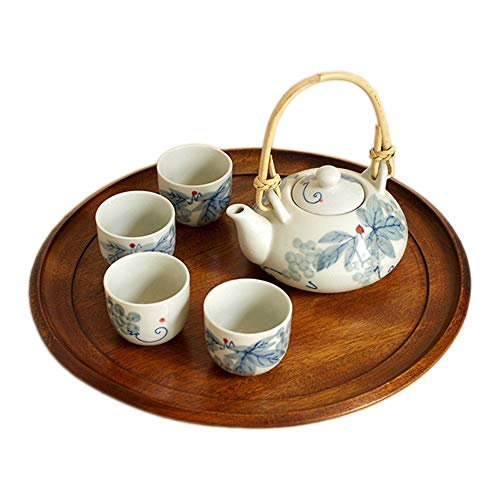 Find Bargain Tea set Ink Underglaze Japanese Teapot With Handle And Teacup Set Service 4 Adult Beaut...