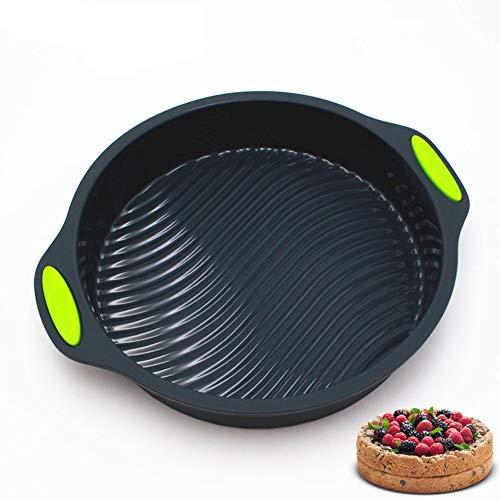 LanLan bakplaat van silicone, rond, voor oven, 9 inch