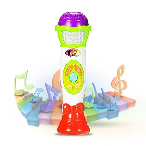 ThinkMax micrófono de juguete, cambios en la voz y el micrófono de grabación, Música Antigua de juguetes educativos para los niños y los niños (verde)