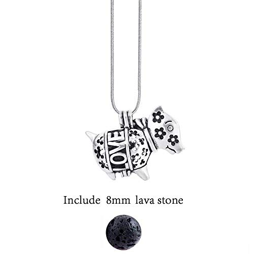 YUNGYE Diversified Filz Glow Ball Lavastein Antike Vintage Ketten Locken Perfume Ätherisches Öl Diffuser Halskette (Color : 50cm, Size : Elephant)