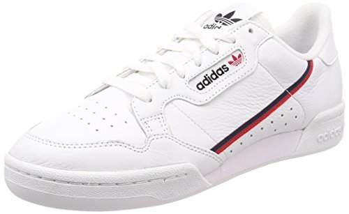 Adidas Herren Continental 80 Fitnessschuhe, Weiß (Ftwbla/Escarl/Maruni 000), 46 EU