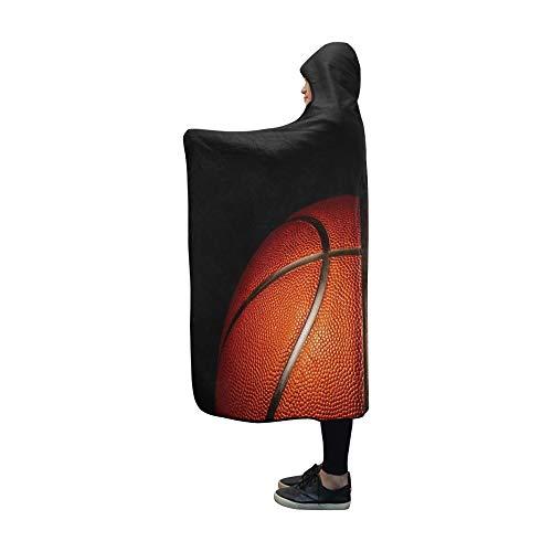 JOCHUAN Mit Kapuze Decke Basketballdecke 60 x 50 Zoll Comfotable Hooded Throw Wrap