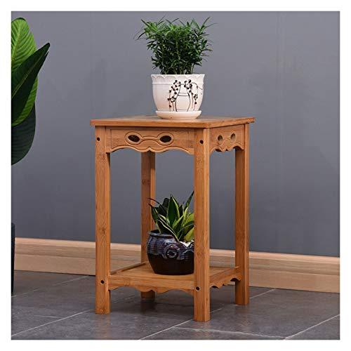 QFF Blumentopf-Ständer, Pflanzenständer, Massivholz-Blumenständer, Balkon, Bambus-chinesische antike Bonsai, mehrschichtige 33 * 33 * 50cm