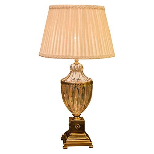 CCLLtyt Lampada di Cristallo, Camera da Letto, Soggiorno, Lusso Europeo, Lampada da Comodino in Vetro Americano. Reading Lamp