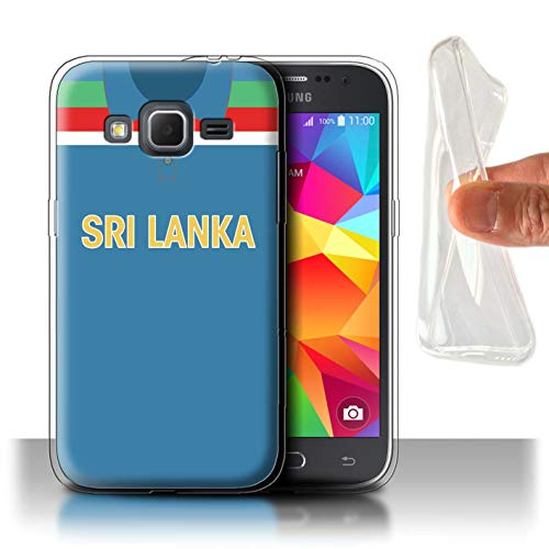 eSwish Gel TPU Hülle/Case für Samsung Galaxy Core Prime/Sri Lanka Muster/Retro Cricket Weltmeisterschaft 1992 Kollektion