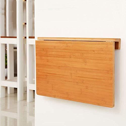 XLAHD Computerarbeitsplätze Kleiner Wandtisch Schwimmend Klappbarer Computertisch Natürlicher Bambus Klappbarer Esstisch Platzsparer