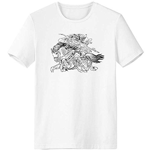 Masterpiece Camiseta The Romance Three Kingdoms Roupa esportiva de manga curta com bolso, Multicor, S