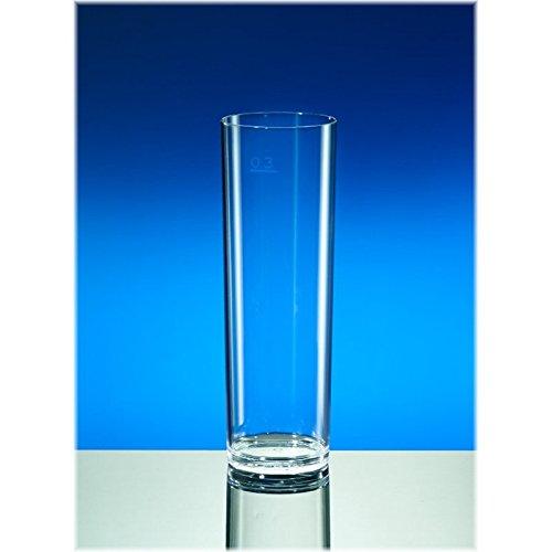Mehrweg Glas - Kölsch Glas - SAN - glasklar - bruchfest - spülmaschinenfest - deutsche Fertigung - 200ml, VE 6 Stück