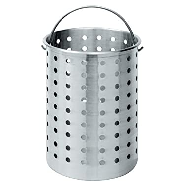 Bayou Classic B300 Perforated Steam, Boil, Fry Accessory Basket. Fits 30-Quart Turkey Fryers