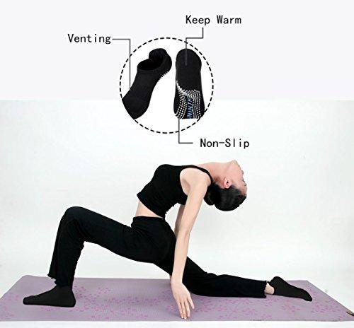 XXL Lashes 2 Paar Non Slip Yoga-Socken, zehenfrei, mit Antirutsch-Sohle