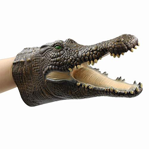Yolococa Handpuppe Spielzeug,Weiches Gummi Realistischer Krokodil Kopf