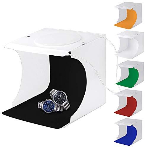 Mini Caja de fotografía, Mini Estudio fotográfico, LED para Tomar imágenes Productos de tamaño pequeño