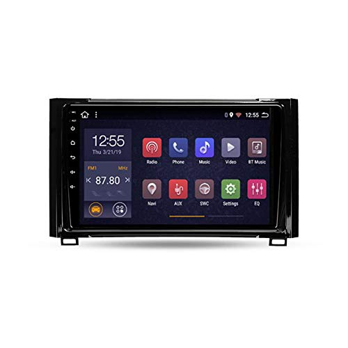 Autoradio 2 Din, Android Bluetooth Radio De Coche 9'' Pantalla Táctil Wifi Plug And Play Completo RCA SWC Soporte Carautoplay/GPS/DAB+/OBDII Para Toyota Tundra XK50 2013-2020,Quad core,Wifi 2G+32G