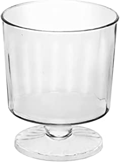 Party Essentials Plastic 1 Piece Wine Gl, 2-Ounce Mini Tasters, 40-Count, Clear