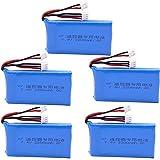Batería para Taranis Q X7 Dx6e Dx6 Transmisor para Spektrum DX8 Repuestos RC 7.4V 2200mAh 2S Batería lipo para Accesorios de Juguetes 5PCS