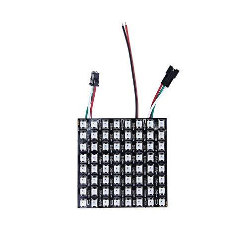 ALITOVE For Arduino WS2812B LED Rainbow Matrix 8x8 64 Pixels led flexible panel screen 5050 RGB SMD Dream color array of led pixel