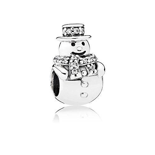 Pandora 792001cz-box muñeco de nieve encanto–2016–en conjunto con caja