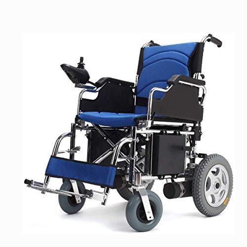 Elektrischer Rollstuhl Tragbare ältere Menschen Intelligenter automatischer tragbarer Roller Abnehmbarer Leichter Aluminium-Transportrollstuhl für Behinderte und ältere Menschen