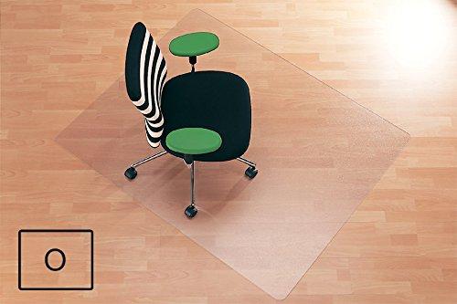 Transparente Bodenschutzmatte, 90 x 120 cm, aus Makrolon®, Schutzmatte für Parkett-, Laminat- & PVC-Böden, 17 weitere Größen und Formen wählbar