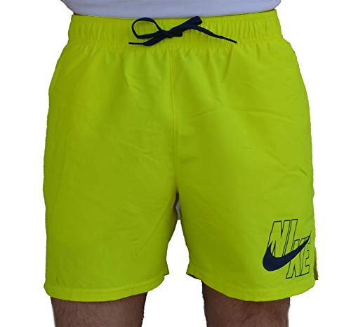 Nike - 5 Volley Short, Costume da Bagno da Uomo, Uomo, NESSA566, Giallo Fluo (Lemon Venom), XL