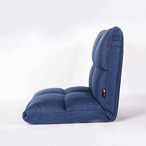 SFGH Divano pigro creativo pieghevole singolo moderno e minimalista camera da letto balcone piccolo divano regolabile (Color : Blue)