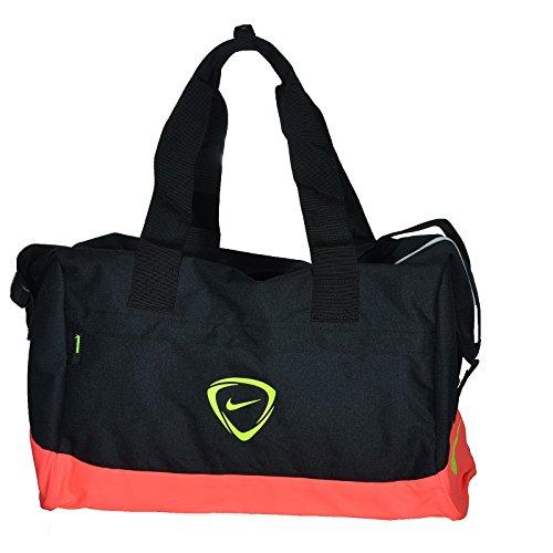 Nike Duffel Grip Drum Football Shield Compact, Black/Hyper Punch/Volt, 50 x 25 x 5 cm, 5 Liter