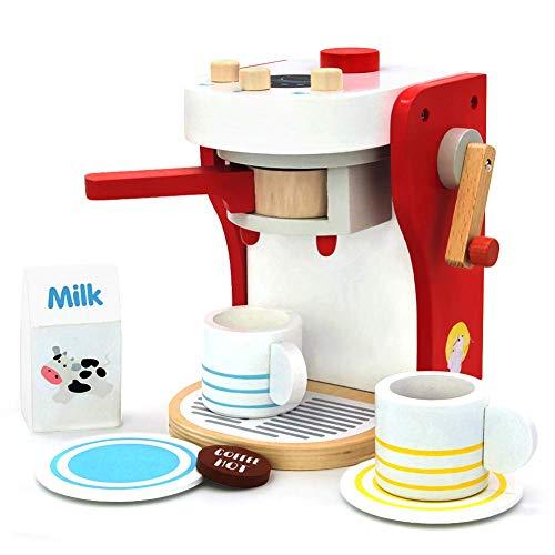 Zhaoyun Küche aus Holz Kaffee-Maschinen-Hersteller Spielzeug-Set Rolle? Spielen? Kitchen? Zubehör? Presents Ausbildung? Spielzeug? Für? 3 4 5? Jahre? Alt