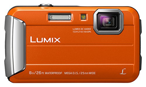 Panasonic LUMIX DMC-FT30EG-D Outdoor Kamera (16,1 Megapixel, 4x opt. Zoom, 2,6 Zoll LCD-Display, wasserdicht bis 8 m, 220 MB interne Speicher, USB, orange)