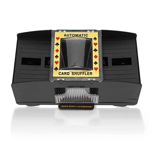 Dioche Automatic Card Shuffler, Card Shuffler (2-Deck) for Blackjack, Adult Elderly Electric Automatic 2-Deck Labor-Saving Card Shuffler Tool Accessory