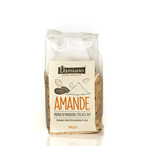 Farina di Mandorle Tostate Biologiche - Senza Glutine e Vegan Friendly - Sacchetto da 100g
