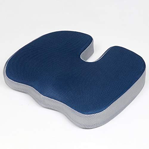 postura ergonómica de espuma viscoelástica utilizada para sillas oficina,sillas ruedas,sillones reclinables cocina,asientos automóvil,Coxis ciática,hemorroides,cojín el dolor coccígeo (45 cm*35*8 cm)