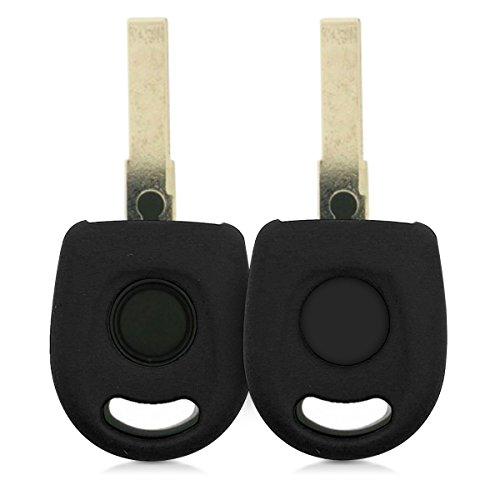 kwmobile Accessoire clé de Voiture Compatible avec VW 1-Bouton - Coque en Silicone Souple pour Clef de Voiture Noir